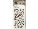 THS065 Stampers Anonymous Tim Holtz Layering Stencil - Twisted